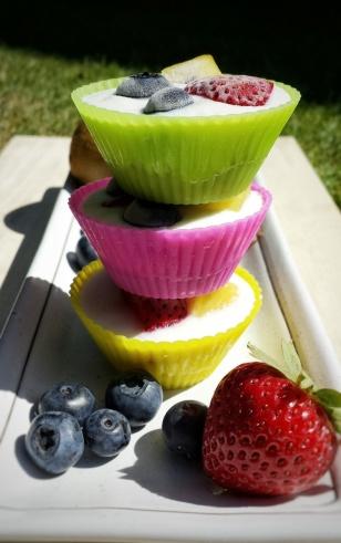Bran Frozen Yoghurt Cups