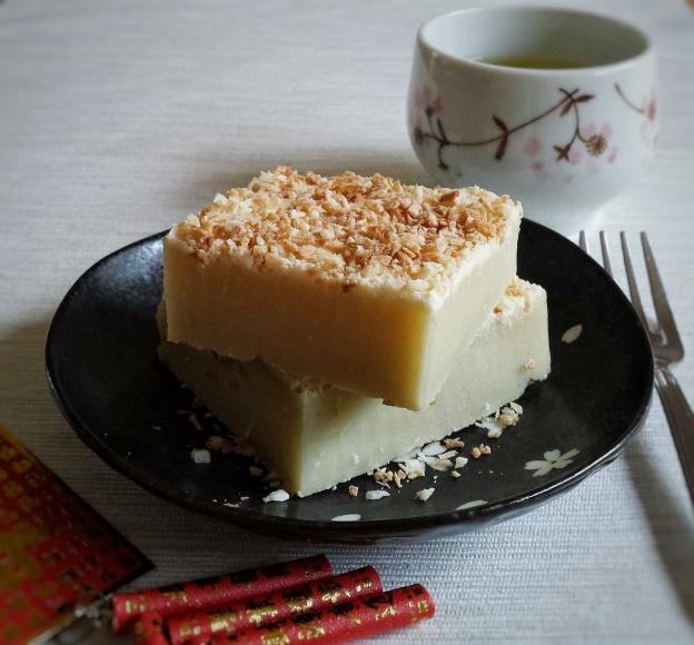 Baked Coconut Sticky Rice Cake