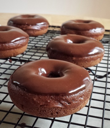 Baked Double Chocolate Doughnuts